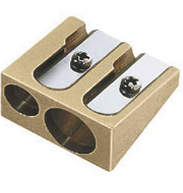 MacPherson's Brass Wedge Double-Hole Pencil Sharpener