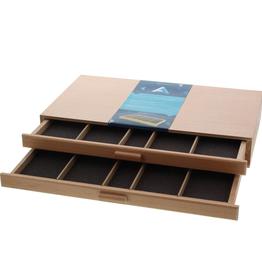 Art Alternatives Art Alternatives Wood Pastel Storage Box 2 Drawer