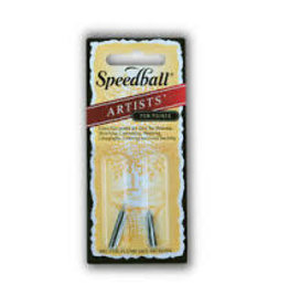 SPEEDBALL ART PRODUCTS Speedball Drawing & Lettering #100/#104 Pen Nibs, 1 each per Card