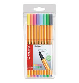 STABILO Point 88 Pen Sets, 8-Color Set Pastel