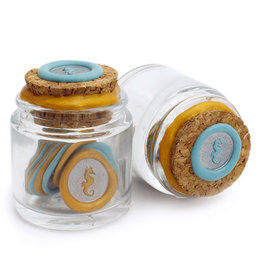Global Solutions Glass Bottle Wax Seals - Seahorse
