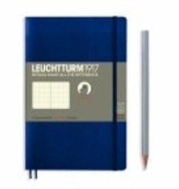 LEUCHTTURM1917 Leuchtturm 1917 Navy, Softcover, Paperback, 123 pages, dotted