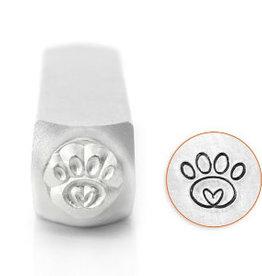 ImpressArt ImpressArt Paw Print Heart Signature Design Stamp, 6mm