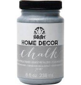 Folkart Home Decor Chalk 8 oz - Metallic Silver