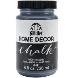 Folkart Home Decor Chalk 8 oz - Rich Black