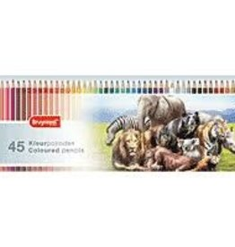 Royal Talens Bruynzeel Colour Pencil Tin Set/45 - Wild Animals