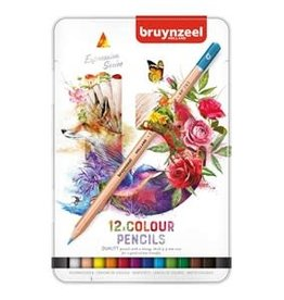 Royal Talens Bruynzeel Expression Colour Pencil Tin Set/12