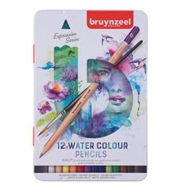 Royal Talens Bruynzeel Expression Watercolour Pencil Tin Set/12
