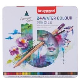 Royal Talens Bruynzeel Expression Watercolour Pencil Tin Set/24