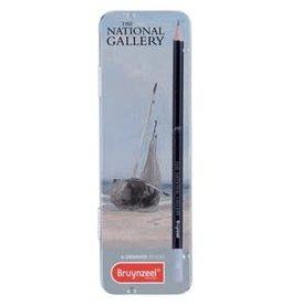 Royal Talens National Gallery Graphite Pencils Tin Set/6