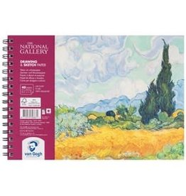 "Royal Talens National Gallery Van Gogh Draw/Sketch Spiral Pad 8.3"" x 11.7"""