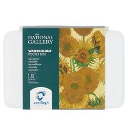 Royal Talens National Gallery Van Gogh Watercolour Pocket Box 12 Pan
