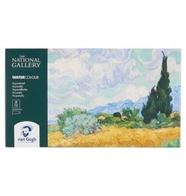 Royal Talens National Gallery Van Gogh Watercolour Pocket Box 18 Pan + 2x10Ml