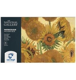 Royal Talens National Gallery Van Gogh Watercolour Pocket Box 24 Pan + 2x10Ml