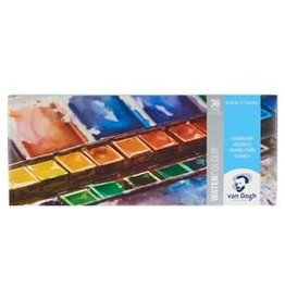 Royal Talens Van Gogh Watercolour Metal Pocket Box - 36 Pan General Selection