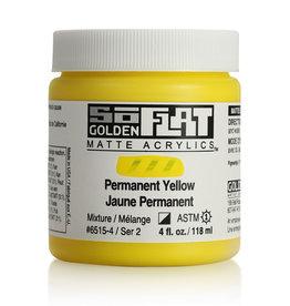 Golden Golden SoFlat Permanent Yellow 4 oz jar