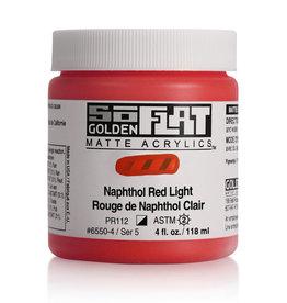 Golden Golden SoFlat Naphthol Red Light 4 oz jar