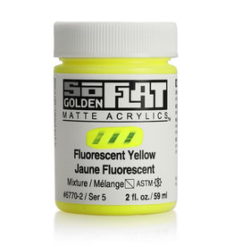 Golden Golden SoFlat Fluorescent Yellow 2 oz jar