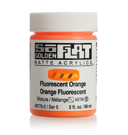 Golden Golden SoFlat Fluorescent Orange 2 oz jar