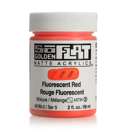 Golden Golden SoFlat Fluorescent Red 2 oz jar
