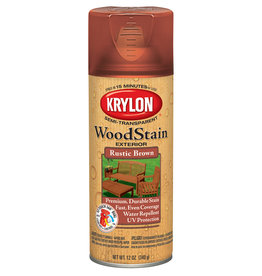 Krylon Krylon Exterior Semi-Transparent Wood Stain Rustic Brown