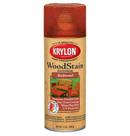 Krylon Krylon Exterior Semi-Transparent Wood Stain Redwood