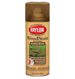 Krylon Krylon Exterior Semi-Transparent Wood Stain Earthen Brown