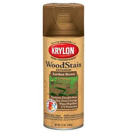Krylon Krylon Exterior Semi-Transparent Wood Stain Earthen Brown