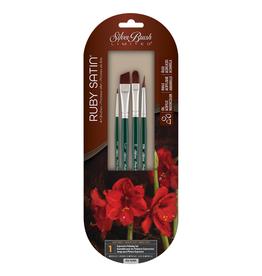 Silver Brush Limited Silver Brush Ruby Satin 4 pc Basic SH Set