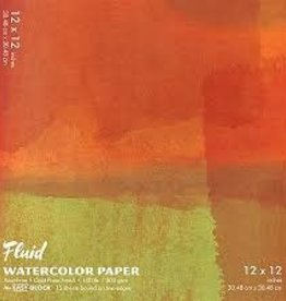 "SPEEDBALL ART PRODUCTS Fluid Cold Press Watercolor Block, 12"" X 12"""