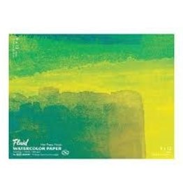 "SPEEDBALL ART PRODUCTS Fluid Hot Press Watercolor Block, 9"" X 12"""