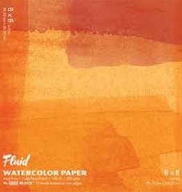 "SPEEDBALL ART PRODUCTS Fluid Cold Press Watercolor Block, 8"" X 8"""