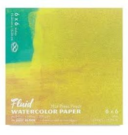 "SPEEDBALL ART PRODUCTS Fluid Hot Press Watercolor Block, 6"" X 6"""