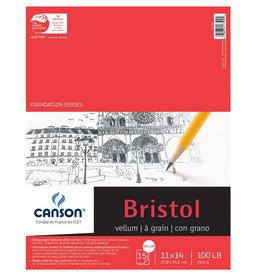 Canson Canson Foundation Series Bristol Vellum 11X14 15 Sheet