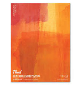 "SPEEDBALL ART PRODUCTS Fluid Cold Press Watercolor Block, 12"" X 16"""