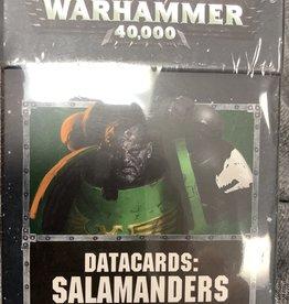 Games Workshop Warhammer 40K DATACARDS SALAMANDERS