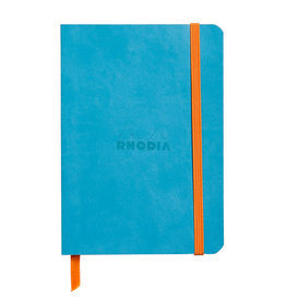 Rhodia Rhodia Rhodiarama SoftCover Notebook, 72 Lined Sheets, 4 x 5 1/2, Turquoise Cover