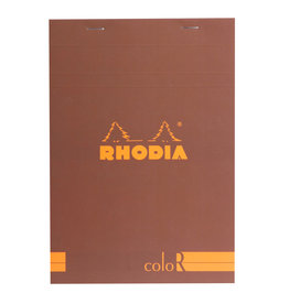 Rhodia Rhodia ColoR Pad, Lined 70 sheets, 6 x 8 1/4, Chocolate Cover