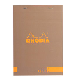 Rhodia Rhodia ColoR Pad, Lined 70 sheets, 6 x 8 1/4, Taupe Cover