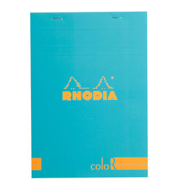 Rhodia Rhodia ColoR Pad, Lined 70 sheets, 6 x 8 1/4, Turquoise Cover