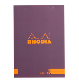 Rhodia Rhodia ColoR Pad, Lined 70 sheets, 6 x 8 1/4, Violet Cover