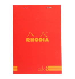 Rhodia Rhodia ColoR Pad, Lined 70 sheets, 6 x 8 1/4, Poppy Cover