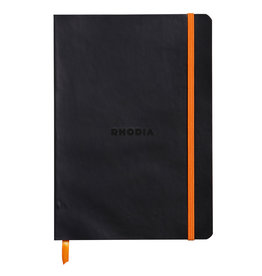 Rhodia Rhodia Rhodiarama SoftCover Notebook, 80 Lined Sheets, 6 x 8 1/4, Black Cover