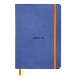 Rhodia Rhodia Rhodiarama SoftCover Notebook, 80 Lined Sheets, 6 x 8 1/4, Sapphire Cover