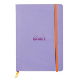 Rhodia Rhodiarama SoftCover Notebook, 80 Lined Sheets, 6 x 8 1/4, Iris Cover