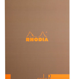 Rhodia Rhodia ColoR Pad, Lined 70 sheets, 8 1/4 x 11 3/4, Taupe Cover