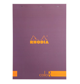 Rhodia Rhodia ColoR Pad, Lined 70 sheets, 8 1/4 x 11 3/4, Violet Cover
