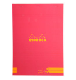 Rhodia Rhodia ColoR Pad, Lined 70 sheets, 8 1/4 x 11 3/4, Raspberry Cover