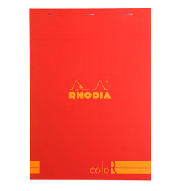 Rhodia Rhodia ColoR Pad, Lined 70 sheets, 8 1/4 x 11 3/4, Poppy Cover