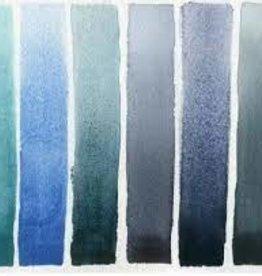 DANIEL SMITH Daniel Smith Hand Poured Watercolor Half Pan Set of 6, with Bonus 9 Empty Half Pans, Blue Tones- Serene to Dramatic